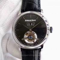 Audemars Piguet Jules Audemars Tourbillon Grande Date 26559 Stainless Steel Black Dial