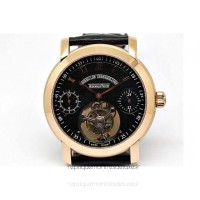 Réplique Montre Audemars Piguet Jules Audemars Tourbillon Or rose Noir Dial