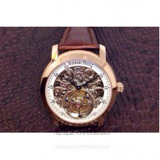 Audemars Piguet Jules Audemars Tourbillon Rose Gold Skeleton White Dial