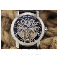 Audemars Piguet Jules Audemars Tourbillon Stainless Steel Skeleton Black Dial