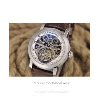 Réplique Montre Audemars Piguet Jules Audemars Tourbillon Acier inoxydable Skeleton Blanc Dial