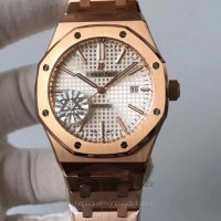 Réplique Montre Audemars Piguet Royal Oak 15400 Or rose argent Dial