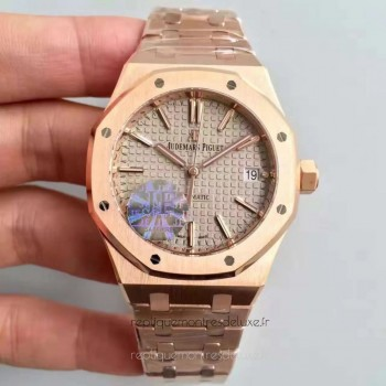 Réplique Montre Audemars Piguet Royal Oak 15450 Or rose Gris Dial