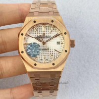 Réplique Montre Audemars Piguet Royal Oak 15450 Or rose argent Dial