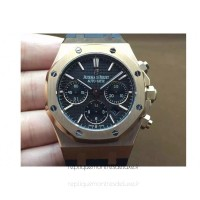 Réplique Montre Audemars Piguet Royal Oak 26320 Or rose Noir Dial Bracelet en caoutchouc