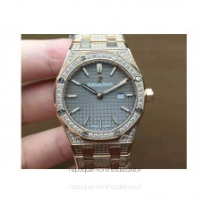 Réplique Montre Audemars Piguet Royal Oak 67651 Ladies Or rose Diamant Gray Dial