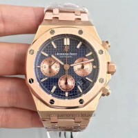 Réplique Montre Audemars Piguet Royal Oak Chronographe 26320 Or rose Bleu Dial