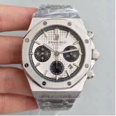 Réplique Montre Audemars Piguet Royal Oak Chronographe 26320 Acier inoxydable Blanc Dial