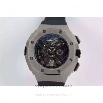 Réplique Montre Audemars Piguet Royal Oak Concept Laptimer Michael Schumacher Acier inoxydable Skeleton Dial