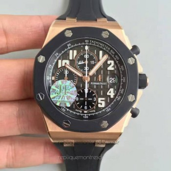 Réplique Montre Audemars Piguet Royal Oak Offshore 25940O.OO.D002CA.01 Or rose Ceramic Gris Dial