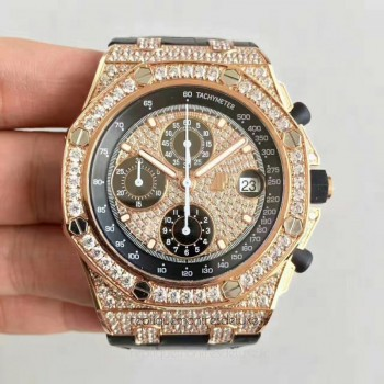 Réplique Montre Audemars Piguet Royal Oak Offshore 26067OR.ZZ.D002CR.01 Or rose Diamant Dial