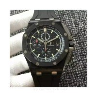 Réplique Montre Audemars Piguet Royal Oak Offshore 26400AU.OO.A002CA.01 Carbone forgé Noir Dial