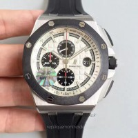 Réplique Montre Audemars Piguet Royal Oak Offshore 26400SO.OO.A002CA.01 Acier inoxydable Blanc Dial