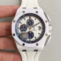 Réplique Montre Audemars Piguet Royal Oak Offshore 26402CB.OO.A010CA.01 Blanc Ceramic Blanc Dial