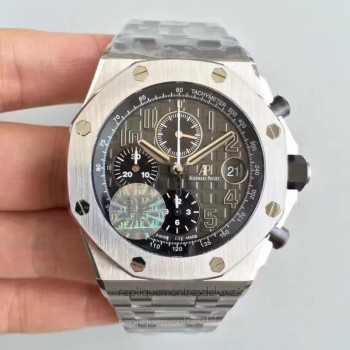 Réplique Montre Audemars Piguet Royal Oak Offshore 26470PT.OO.1000PT.01 Acier inoxydable Gris Dial