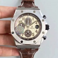 Réplique Montre Audemars Piguet Royal Oak Offshore 26470ST.OO.A801CR.01 Acier inoxydable marron Dial