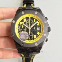 Réplique Montre Audemars Piguet Royal Oak Offshore Bumble Bee 26176FO.OO.D101CR.02 Carbone forgé Noir Dial
