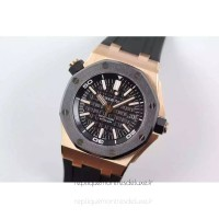 Réplique Montre Audemars Piguet Royal Oak Offshore Plongeur 15340 Or rose Noir Dial