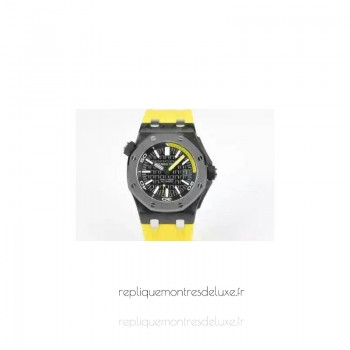 Réplique Montre Audemars Piguet Royal Oak Offshore Plongeur 15707 Carbone forgé Noir Dial