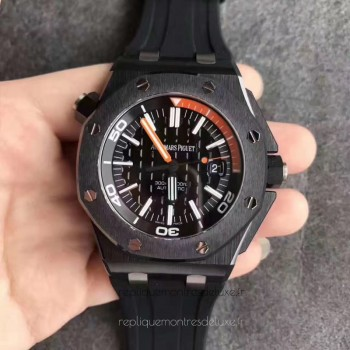 Réplique Montre Audemars Piguet Royal Oak Offshore Plongeur 15707CE.OO.A002CA.01 Noir Ceramic Noir Orange Dial