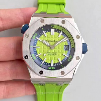 Réplique Montre Audemars Piguet Royal Oak Offshore Plongeur 15710ST.OO.A038CA.01 Acier inoxydable Green Dial