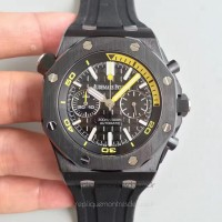 Réplique Montre Audemars Piguet Royal Oak Offshore Plongeur Chronographe 26703 Noir Ceramic Noir Dial