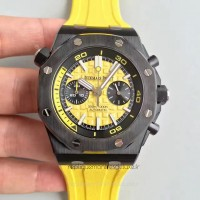Réplique Montre Audemars Piguet Royal Oak Offshore Plongeur Chronographe 26703 Ceramic Jaune Dial