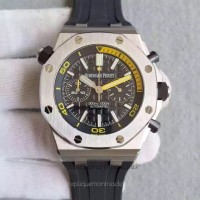 Réplique Montre Audemars Piguet Royal Oak Offshore Plongeur Chronographe 26703ST.OO Acier inoxydable Noir Dial