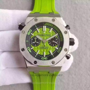 Réplique Montre Audemars Piguet Royal Oak Offshore Plongeur Chronographe 26703ST.OO.A038CA.01 Acier inoxydable Green Dial