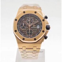 Réplique Montre Audemars Piguet Royal Oak Offshore Don Ramon De La Cruz 26192OR.D0801CR.01 Or rose Gris Dial