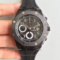 Réplique Montre Audemars Piguet Royal Oak Offshore Ginza 7 26205AU.OO.D002CR.01 Carbone forgé Noir Dial