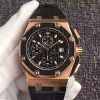 Réplique Montre Audemars Piguet Royal Oak Offshore Juan Pablo Montoya 26030RO.00.D001IN.01 Or rose Noir Dial