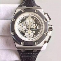 Réplique Montre Audemars Piguet Royal Oak Offshore Rubens Barrichello II 26078IO.OO.D001VS.01 Titanium Noir Dial