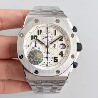 Réplique Montre Audemars Piguet Royal Oak Offshore Safari 26170ST.OO.D091CR.01 Acier inoxydable Blanc Dial