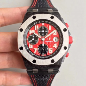 Réplique Montre Audemars Piguet Royal Oak Offshore Singapore GP F1 26190OS.OO.D003CU.01 Carbone forgé Red Dial