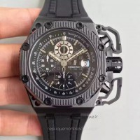 Réplique Montre Audemars Piguet Royal Oak Offshore Survivor 26165IO.OO.A002CA.01 Titanium Noir Dial
