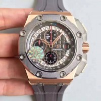 Réplique Montre Audemars Piguet Royal Oak Offshore Michael Schumacher 26568OM.OO.A004CA.01 Or rose Anthracite Dial