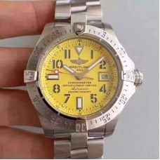 Replica Breitling Avenger II Seawolf A1733110/I519/169A Stainless Steel Yellow Dial