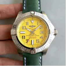 Replica Breitling Avenger II Seawolf A1733110/I519/189X/A20BASA.1 Stainless Steel Yellow Dial