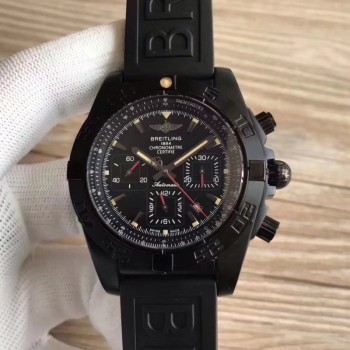 Réplique Breitling Chronomat 44 Blacksteel MB0111C3/BE35 Cadran Noir PVD