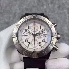 Replica Breitling Super Avenger Limited Edition A13370 Stainless Steel White Dial