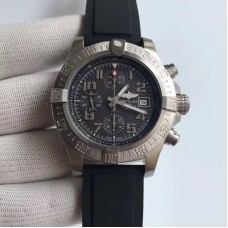 Replica Breitling Super Avenger II A1337111/BC28/155S Stainless Steel Black Dial