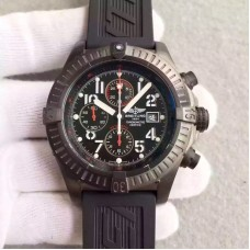Replica Breitling Super Avenger Limited Edition M13370 PVD Black Dial