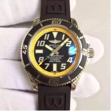 Replica Breitling Superocean 42 A1736402/BA32 Stainless Steel Yellow Dial