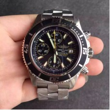 Replica Breitling Superocean Chronograph A1334102/BA82/134A Stainless Steel Black Yellow Dial