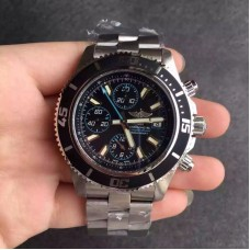 Replica Breitling Superocean Chronograph A1334102/BA83/134A Stainless Steel Black Blue Dial