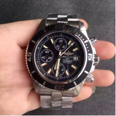 Replica Breitling Superocean Chronograph A1334102/BA84/134A Stainless Steel Black White Dial