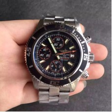 Replica Breitling Superocean Chronograph A1334102/BA85/134A Stainless Steel Black Orange Dial