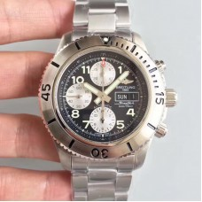 Replica Breitling Superocean Chronograph Steelfish A13341C3/BD19/162A Stainless Steel Black Dial