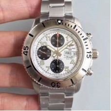 Replica Breitling Superocean Chronograph Steelfish A13341C3.G782.162A Stainless Steel White Dial
